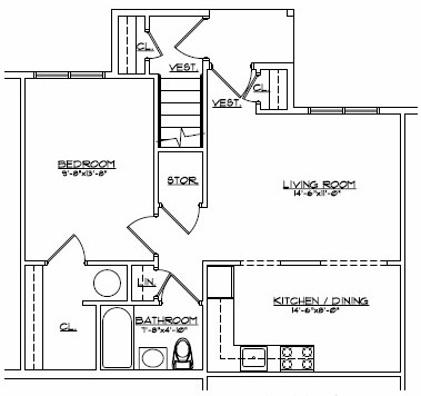 Devon Management - First Floor Plan at Devon Woods in Warwick and Northgate Manor in Goshen