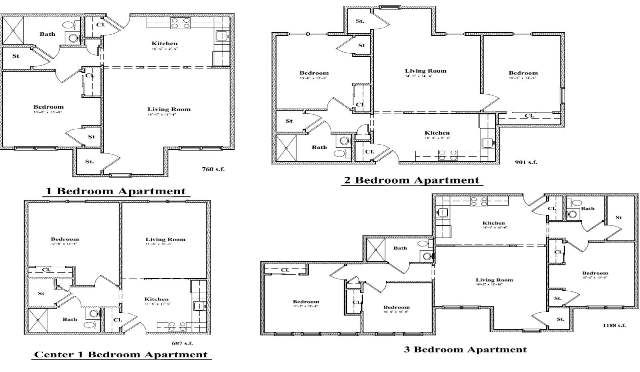 Devon Management - Floor Plan at Oakridge and Sunrise Gardens